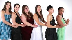 Ladylike from Buzzfeed try on their old prom dresses