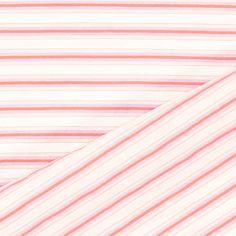 Blusenstoff Längsstreifen - Baumwolle - Polyester - rosa