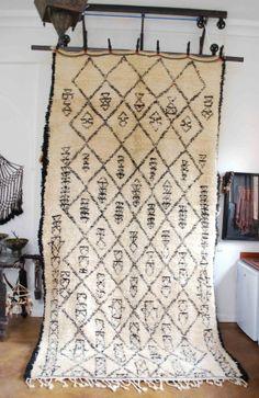 Moroccan Beni Ouarain carpet (Vintage & one-of-a-kind)