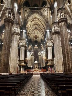 The Duomo of Milan. Italy. 5th largest Cathedral in the world.