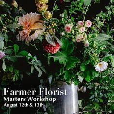 Join us in 2020 for our 5th Annual Farmer Florist: Masters Workshop - August 12th & 13th - excited to announce celebrated floral artist successful shop owner and plant obsessed gardener @jenn.pineau from @naturecomposed will be joining @gagnon.lou & I for a two-day intensive hands-on experience into what it takes to build a successful & profitable farmer florist farm & studio & to talk shop. Perhaps you {or your significant farmer florist other} are staring at an open piece of land or acres… Seed Catalogs, Weed Control, Farmer, Masters, Studios, Seeds, Workshop, Join, Floral