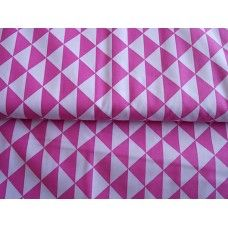 100% BAVLNA - trojúhelníky růžové