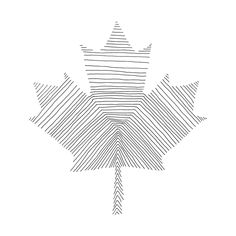 Canadian Maple Leaf Colouring Page with Abstract Drawing in Mind Form by Donald Lee Leaf Coloring Page, Colouring Pages, Abstract Drawings, Abstract Lines, Pillow Inspiration, Tattoo Inspiration, Canada Tattoo, Canadian Maple Leaf, Sibling Tattoos