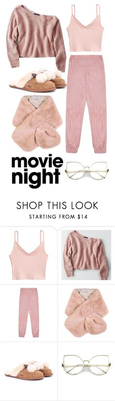 """""""Laying"""" by mutiapratiwi ❤ liked on Polyvore featuring American Eagle Outfitters, Veil London, Chesca and UGG"""