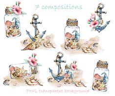 Seascape Paintings, Painting Prints, Beach Clipart, Beach Illustration, Watercolor Ocean, Creature Drawings, Sea Art, Rock Art, Stickers