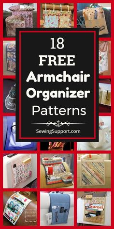 A collection of 18 free armchair and organizer patterns, tutorials, and diy sewing projects. Bag Patterns To Sew, Sewing Patterns Free, Free Sewing, Fabric Crafts, Sewing Crafts, Sewing Diy, Valentines Gifts For Her, Needle Book, Sewing Projects For Kids