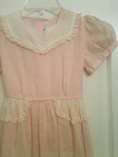 Vintage Little Girls Pink Party Dress With Eyelet by shannondzikas, $8.00