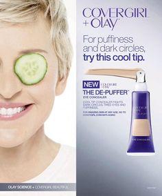 Covergirl Cosmetic Advertising with Ellen DeGeneres