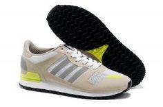 new product 88874 b6428 Adidas ZX 700 Breathable Uomo Scarpe da corsa Color crema Grigio Bianco  Giallo neon prezzo scontato