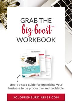 The Biz Boost Workbook will help you work smarter in your small business so that you make more money. Use this workbook to determine exactly where to focus your time and energy to have the most impact. | Business Operations #business #organization