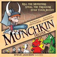 """I grew up playing old school D&D…. rolling up characters, going out on adventures, seeking gold and fighting monsters. While it is a rollicking adventure, it can take a while, and be very involved. """"All hail"""" to Steve Jackson for creating a fun short cut… Munchkin!"""