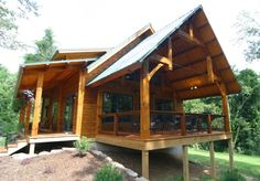 Some choice photos of timber frame houses - exterior shots showing the great architecture.