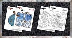 Fun How to Train Your Dragon 2 FREE Printable Activity Sheets and coloring pages.