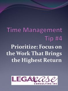 Time Management Tip #4 - Prioritize