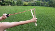 Basteln mit Holz 5: Zwille, Steinschleuder selber bauen