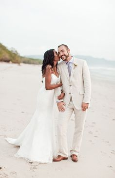 Brides: An Intimate Destination Wedding in Santa Teresa, Costa Rica Destination Wedding Welcome Bag, Wedding Welcome Bags, Destination Weddings, Wedding Suits, Wedding Bride, Fall Wedding, Wedding Dresses, Mauritius Wedding, Jenny Packham Dresses