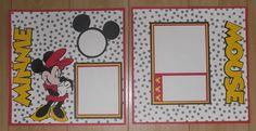 Set 2 Premade Minnie Mouse Scrapbook Pages 12x12 Disney | eBay
