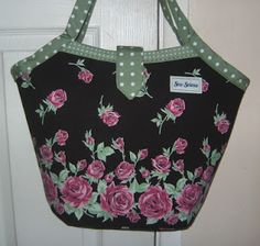 Refashion Co-op: Floral bucket bag - from a skirt!