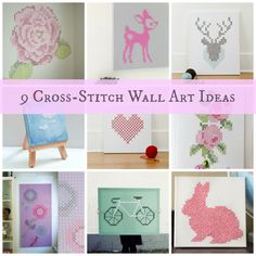 9 Cute DIY Cross-Stitch Wall Art Ideas