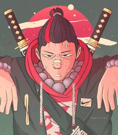 Fox Mask, Japanese Art, Anime, Random Stuff, Drawings, Dibujo, Japan Art, Random Things, Cartoon Movies