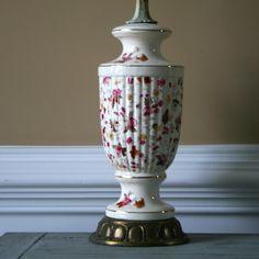 Vintage Lamp Floral Lamp Flowers Accent Lamp by RhapsodyAttic, $185.00