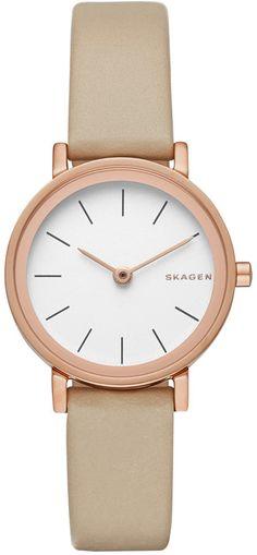Skagen Women's Hald Tan Leather Strap Watch 26mm SKW2494