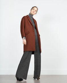 ZARA - WOMAN - COAT WITH FLAP POCKETS