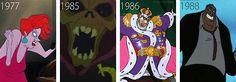 Madame Medusa--The Rescuers Horned King--The Black Cauldron Professor Ratigan--The Great Mouse Detective Sykes--Oliver and Company New Disney Movies, Disney Pixar, Cute Disney, Disney Style, The Great Mouse Detective, The Black Cauldron, Disney Home, Disney And More, Disney Villains