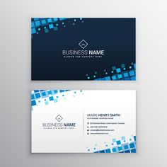22 best namecard design template images on pinterest carte de business card with blue squares free vector friedricerecipe Gallery
