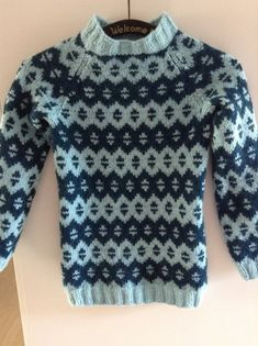 Har strikket en til trøje med det fine og nemme mønster. Igen i drops Nepal.  I str. 10 år.