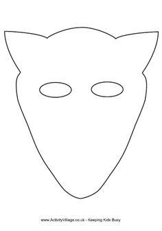 Fox mask template