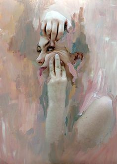 Skin Series - Mixed Media Collages by Rosanna Jones