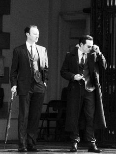 Someone making a deal with the devil?  Also, Andrew Scott is looking ridiculously dapper.
