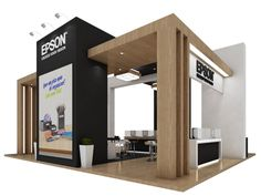 Epson Autocom 2015. by Tiago Guedes de Campos at Coroflot.com Design Stand, Trade Show Booth Design, Display Design, Exhibition Stand Design, Exhibition Stall, Kiosk Design, Retail Design, Exibition Design, Tile Showroom
