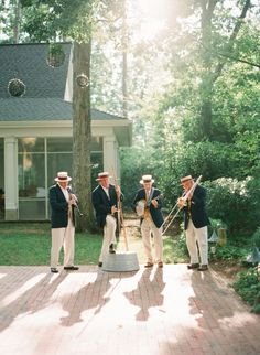 Could have a Dixieland Jazz band play at the wedding reception.