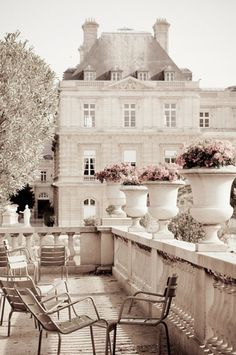 beautiful terrace in paris