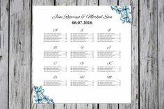 Wedding Seating Chart Template By Wedding Templates On