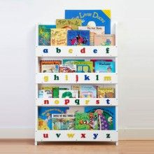 The Tidy Books Childrens Bookcase in White - Perfect Book Display and Storage for Your Children Cube Bookcase, Bookshelves Kids, Bookcase White, Wooden Bookcase, Wood Shelves, Diy Montessori, Animal Poems, Childrens Bookcase, Tidy Books