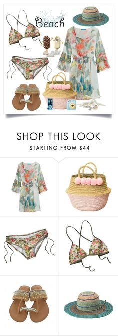 """""""Sin título #862"""" by yblacasa ❤ liked on Polyvore featuring Matthew Williamson, Patagonia, Polaroid, Peter Grimm and beachday"""