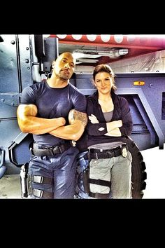 The Fast and the Furious 6 Set Photo with Dwayne Johnson and Gina Carano - The  Haywire  star is one of the new additions to this star-studded cast on the London set of Justin Lin's high-octane sequel.