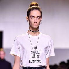polakowska: Trend: statement t-shirt & girl power Slogan Tshirt, T Shirt, Glamour Uk, Fashion Branding, Shirts For Girls, Girl Power, How To Become, Tees, Mens Tops