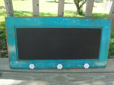 Items similar to Repurposed Cabinet Door Shabby Chic Teal Chalk Board with white flower knobs on Etsy Bedroom Decor For Teen Girls, Teen Room Decor, Furniture Makeover, Diy Furniture, Old Cabinet Doors, Diy For Teens, Wood Projects, Repurposed, Shabby Chic