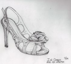 shoe sketches | How to free hand sketch fashion shoes at CHIKO Shoes