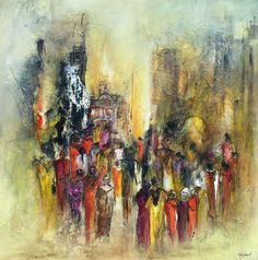 ISTANBul - 100x100cm acrylique sur toile