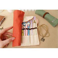 OpenSky Roll Up Pencil Case, Pencil Case Pouch, Makeup Pouch, Makeup Case, Bag Women, Cute Pens, Stationery Pens, Pencil Boxes, Vintage Canvas