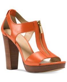 b3c4a0c520287 MICHAEL KORS Michael Michael Kors Berkley T-Strap Platform Dress Sandals.   michaelkors