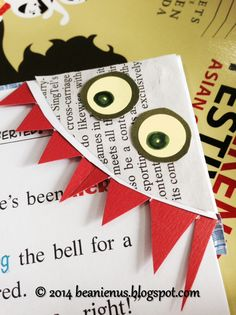 Recycle and Upcycle your old envelops and turn them into these cute Monster Page Corner Bookmarks!