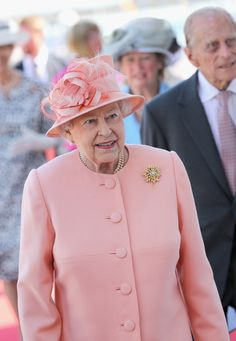 Queen Elizabeth II Visits The Ilse Of Wight And New Forest