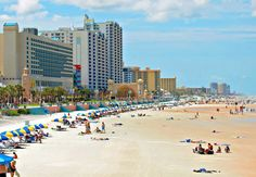 Daytona Beach... The best part is that you can drive on the beach!