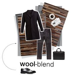 """""""Man in wool-blend black"""" by firstboutique ❤ liked on Polyvore featuring Helmut Lang and Salvatore Ferragamo"""